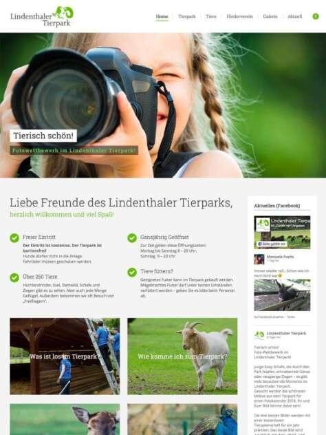 Website Lindenthaler Tierpark